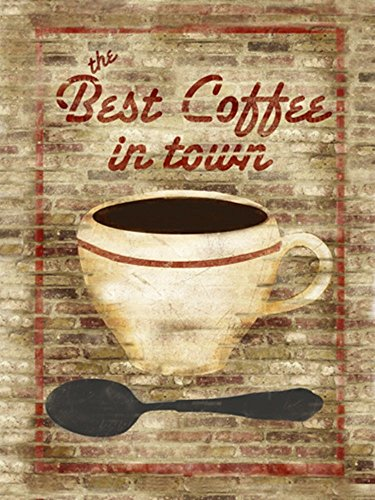Best Coffee in Town by Beth Albert Art Print, 20 x 26 inches (Best Coffee In Town)