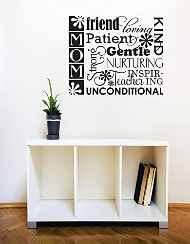 Black Design with Vinyl RE 1 C 2386 Mom Friend Patient Unconditional Image Quote Vinyl Wall Decal Sticker 12 x 12