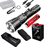 Klarus XT11GT Upgraded Version XT11X 3200 Lumens CREE XHP70.2 P2 LED Rechargeable Tactical Powerful Flashligh with Battery,Holster,K1 Charger,battety case