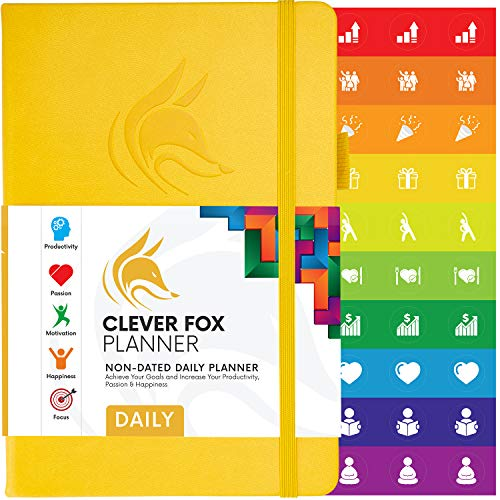 Clever Fox Planner Daily - Best Agenda & Daily Calendar to