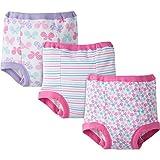 Gerber Baby Toddler Girl Training Pants,Pastels Pinks, 3-Pack, 3T