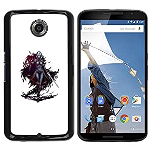 Planetar? ( Swordsman Game Character White Woman ) Motorola NEXUS 6 / Moto X / Moto X Pro Hard Printing Protective Cover Protector Sleeve Case