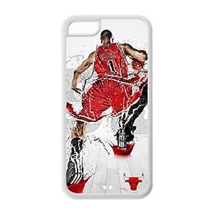 Chicago Bulls Derrick Rose Image Design iPhone 5C TPU Case-by Allthingsbasketball