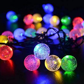 Elektrische Weihnachtsbeleuchtung Garten.Led Bubble Ball Outdoor Wasserdichte Solarlampe String Ball Laterne