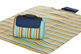 Mega Mat 100% Waterproof Backing All Season Picnic Blanket, Beach Mat And More Opens To 68''X 82'', Seats 4-6 Persons Plus Gear