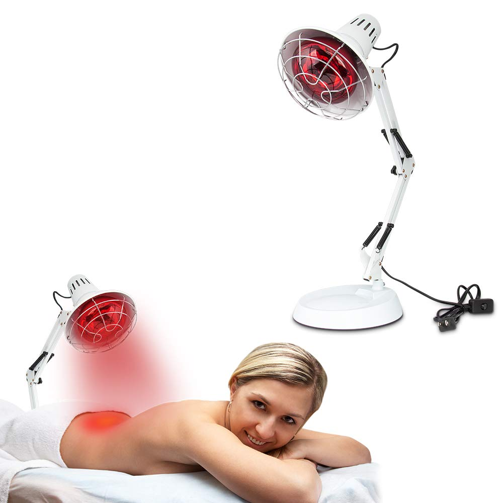 New 150W Near Infrared Light Red Light Therapy Heat Lamp Set for Body Muscle Joint Pain Relief with Improve Sleep Blood Circulation Back Shoulder Finger Pain Home Serfory 110V by Serfory