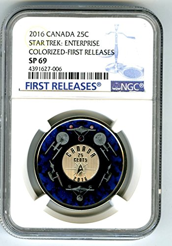 2016 Canada STAR TREK ENTERPRISE FIRST RELEASES ! 25 CENT Crown Quarter SP69 NGC (Cents 25 Quarter Coin)