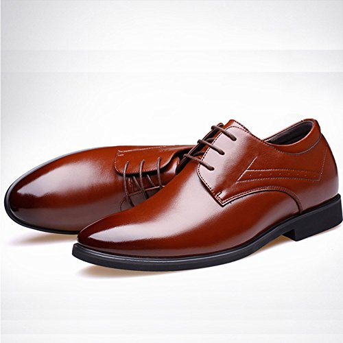 Formel Business Mode Chaussures Occasionnel Parti Hommes Oxford De Mariage Uniforme Brown Up Bureau Derby Pointu Chaussures Lace Bout AzzdwrY