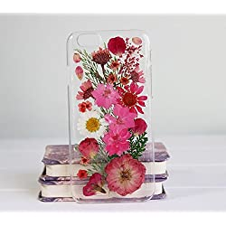 Rebbygena Case and Covers for iPhone 6s Plus, iPhone 6 Plus Handmade Flower Real Pressed Flowers Phone Case for iPhone6 Plus 5.5 inch