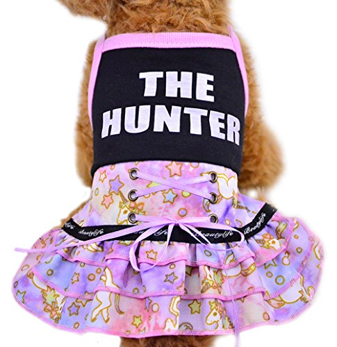 Uniquorn 2017 Spring Summer New Pet Clothes Fashion Cute Starry Sky Unicorn Skirt Breathable And Comfortable Cat Dog Clothes (Dog Costumes Halloween Canada)