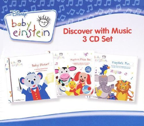 Baby Einstein - Discover with Music (3 CD Set) 56 Songs - Includes Baby Mozart, Playtime Music Box-A Concert for Little Ears, Playdate Fun-A Concert for Little Ears -