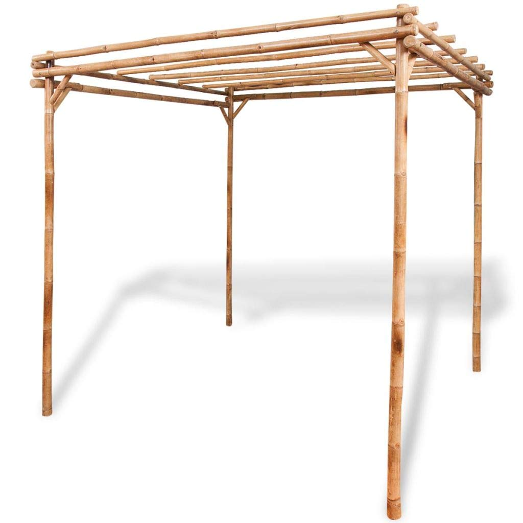 mewmewcat Upgraded Pergola Bamboo for Outdoor Garden Patio Lawn 76.8''x 76.8''x 76.8'' by mewmewcat (Image #1)