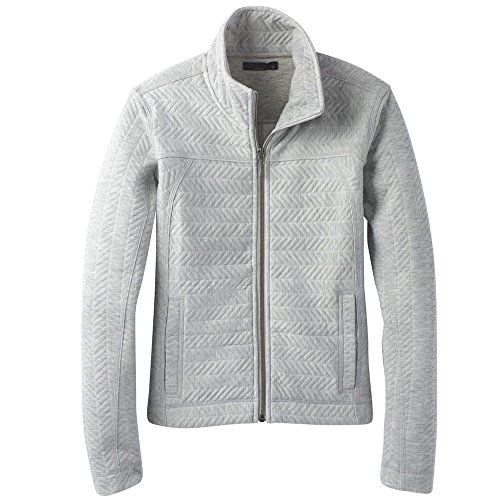 prAna Women's Hadley Jacket, Heather Grey, (Prana Warm Up Jacket)