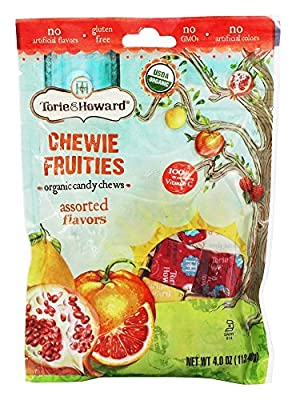 Torie & Howard - Organic Chewie Fruities Candy Chews Assorted Flavors - 4 oz.(pack of 2)