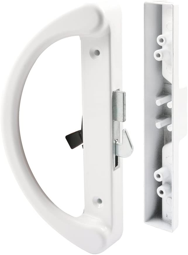 Prime-Line Products C 1253 Sliding Door Handle, Hook Latch, White