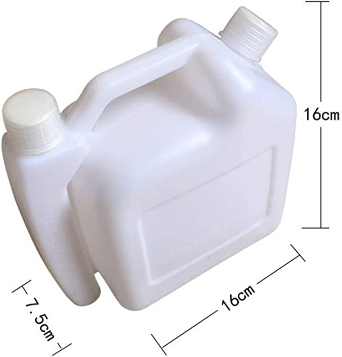 Botella para Mezclar 1.5L Sprout Duradero 2-Stroke Combustible Vajilla Aceite Tanque de Gasolina Blanco Contenedor Almacenaje 1:25 para Desbrozadora Motosierra