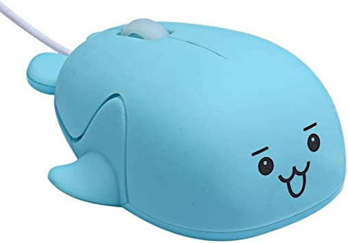 Whale Model Cute USB Wired Optical Gaming Game Mice Mouse For PC Laptop 1200 DPI