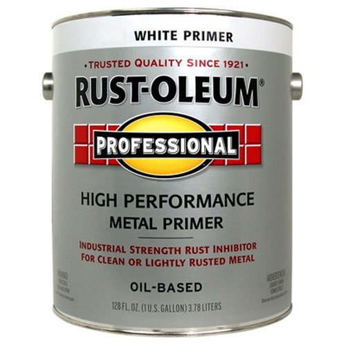 - RUST-OLEUM 242259 Professional Gallon White Clean Metal Primer,