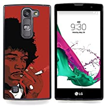 All Phone Most Case / Special Offer Smart Phone Hard Case Cool Image PC Skin Cover Protective Case for LG G4c Curve H522Y ( G4 MINI , NOT FOR LG G4 ) // Black Man Smoking African Curly Hair Art Drawing