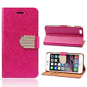 Coromose Chain Wristlet Leather Flip Case for Iphone 6 4.7 Inch (Pink) (Hot Pink)