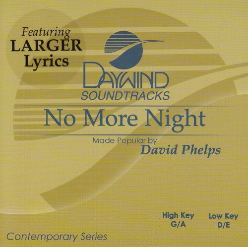 No More Night [Accompaniment/Performance - No Accompaniment Cd