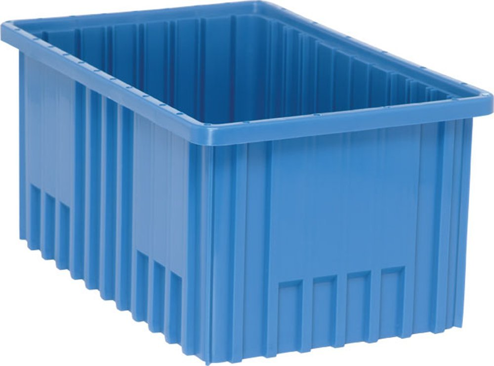 Quantum Storage Systems DG92080BL Dividable Grid Container 16-1/2-Inch Long by 10-7/8-Inch Wide by 8-Inch High, Blue, 8-Pack