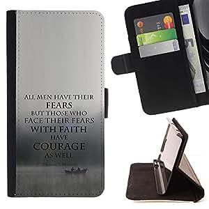 Momo Phone Case / Flip Funda de Cuero Case Cover - Courage Inspiring motivation - Samsung Galaxy Note 4 IV
