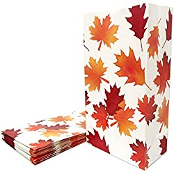 24 Packs Thanksgiving Party Favor Bags Fall Leaves Party Gift Bags
