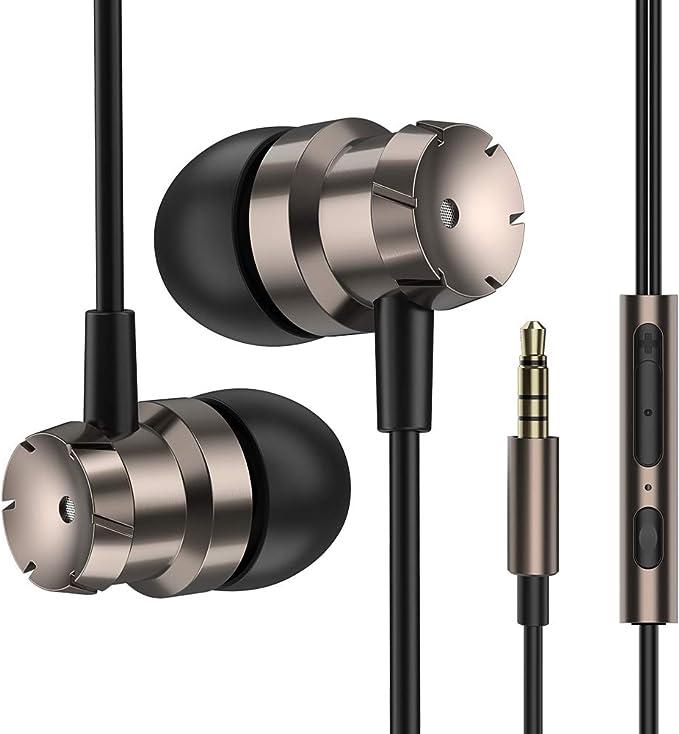 Luvfun Écouteurs Intra Auriculaires, Écouteurs avec Micro et Télécommande Oreillettes Filaires Isolants du Bruit pour Samsung, Téléphones Android