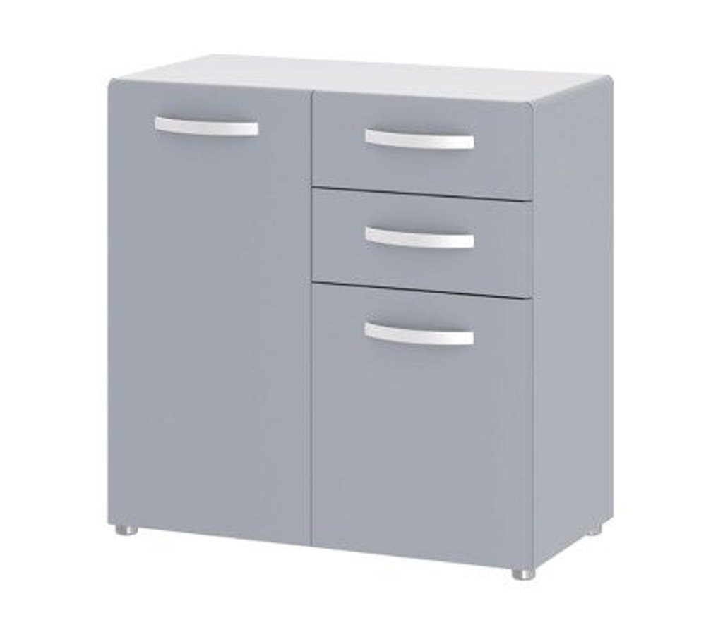 Dynamic24 Sideboard Round Kommode Highboard Schubladen Schrank