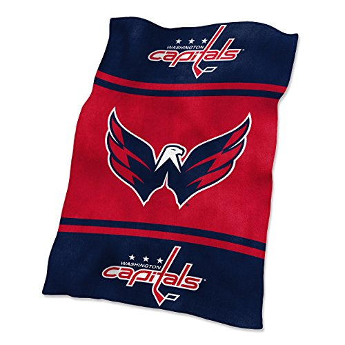 NHL Washington Capitals Ultrasoft Throw with Large Logo Blanket, Navy, 54