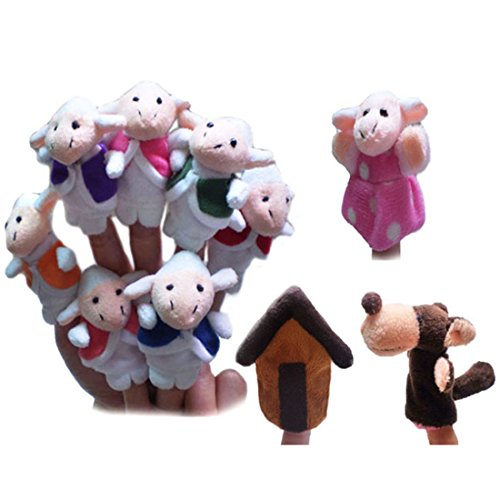 Goat Finger Puppet (The Wolf and the Seven Little Goats Finger Puppets PINCHUANGHUI 10PCS/Set Fairy Tale Storytelling Doll Kids Children Baby Educational Toys)