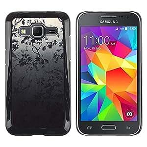 Be Good Phone Accessory // Dura Cáscara cubierta Protectora Caso Carcasa Funda de Protección para Samsung Galaxy Core Prime SM-G360 // Wallpaper Tree Branch Grey Night Forest