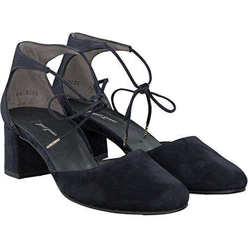 Paul Green | Lace Up Pompen | Suede - Blauw Blauw