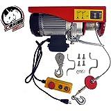 D-Rhino 1320 lbs Mini Electric Wire Hoist Remote Control Garage Auto Shop Overhead Lift