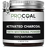 (US) Activated Charcoal Teeth Whitener by PROCOAL – Fast-acting Charcoal Teeth Whitening Toothpaste Powder - 60g