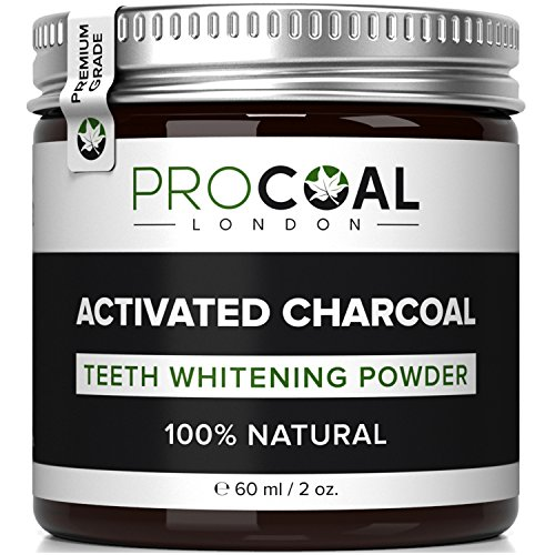 Activated Charcoal Teeth Whitener by PROCOAL – Fast-acting Charcoal Teeth Whitening Toothpaste Powder - 60g