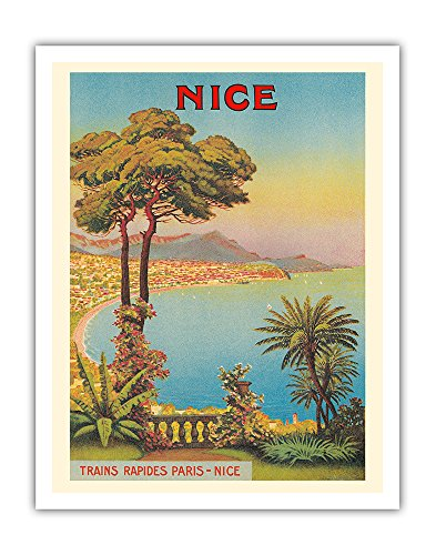 Pacifica Island Art Nice, France - Cote d'Azur - French Riveria - Vintage World Travel Poster by Morel De Tangry c.1900 - Fine Art Print - 11in x 14in
