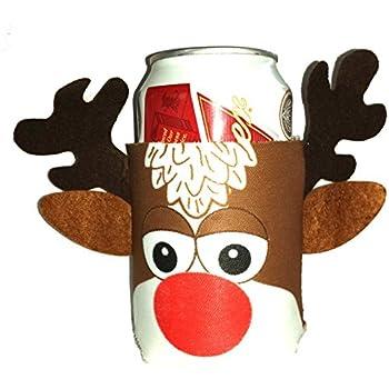 Amazon Com Reindeer Rudolph Beer Can Huggie Cover