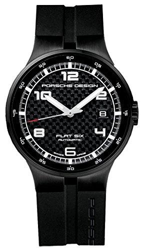 Porsche Design Flat Six Automatic Black PVD Steel Mens Watch Calendar 6351.43.04.1254