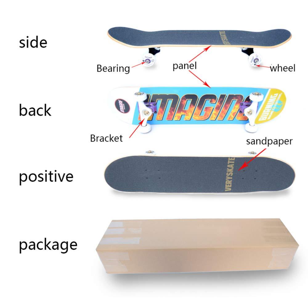YSAN Skateboard Tricks Skate Board Für Anfänger Double Double Double Kick Concave Skateboards B07HLF1531 Skateboards Verwendet in der Haltbarkeit 4de1e6