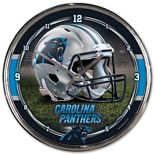 (NFL Carolina Panthers Chrome Clock, 12