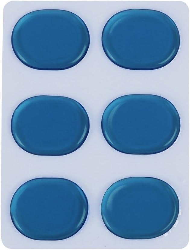 Muslady 6pcs//set Drum Damper Gel Pads Snare Tom Drum Muffler Mute Blue Color