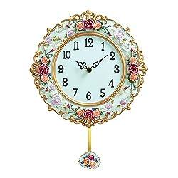 Collections Etc Antique Victorian Rose Pendulum Clock