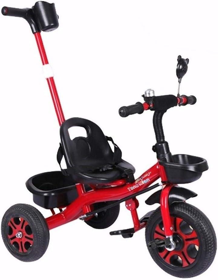 Triciclos Niño Bicicletas Triciclos Triciclos For 1-3-6 Años De Edad 2 En 1 Triciclos Trike Empujar La Manija Grow-Head Con Altura Ajustable De Empuje Paseo En Triciclo 4 Colores Disponibles Como Rega