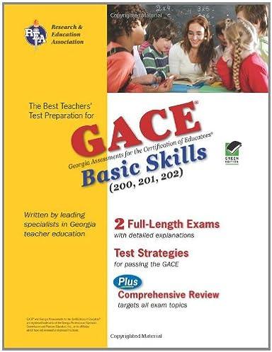 georgia gace basic skills reading math and writing rea test rh amazon com Basic Communication Skills Study Skills Worksheets