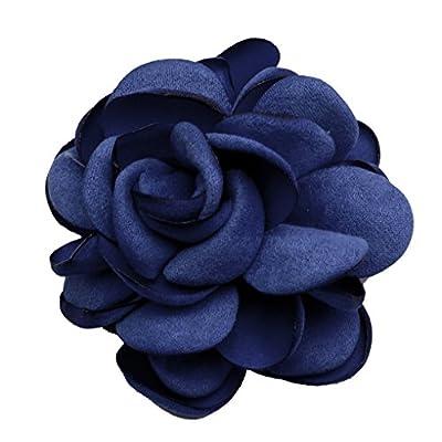 Zakia Silk Flower Pin Brooch Handmade Boutonniere Hair Clip