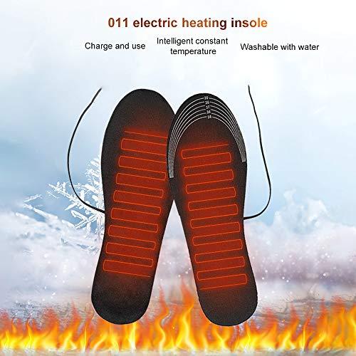 Faraone4w USB Heated Shoe Insoles Feet Warm Sock Pad Mat Electrically Heating Insoles Washable Warm Thermal Insoles Keep Feet Warmer