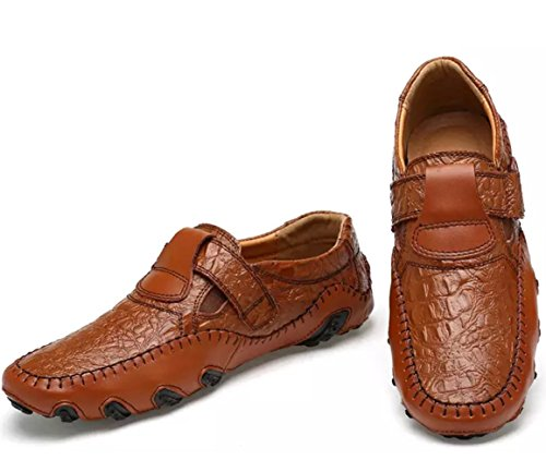 Flats Boat Shoes Loafer On Comfortable Slip Leather Octopus Brown Driving Shoes Men's Mocassins Shoes P0W6qX1pww