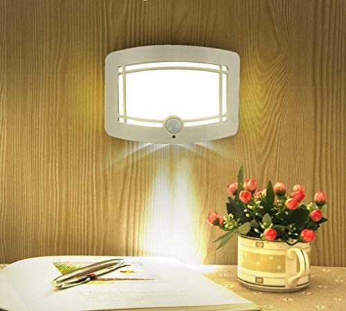 10 LED Wireless Light-operated Motion Sensor Battery Power Sconce Wall Light